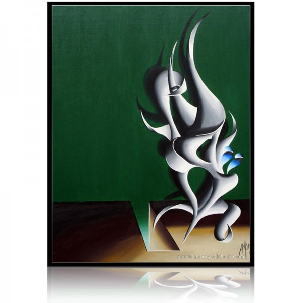 Abstract Painting Totem 2