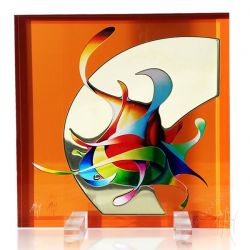 Colored Glass Sculpture