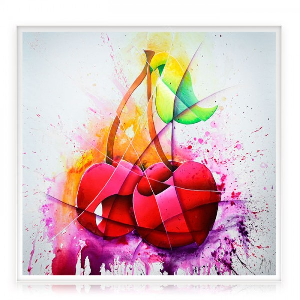 """Colorful Painting """"Cherry"""""""