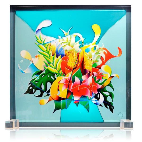 "Colored Glass Sculpture ""Summer"""