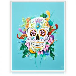 Colorful Painting Mexican Skull Calavera