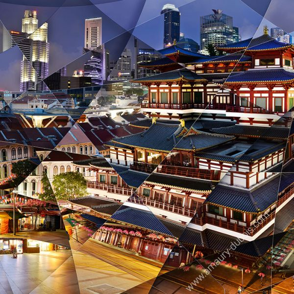 "Photographie d'art ""Temple Singapour"""