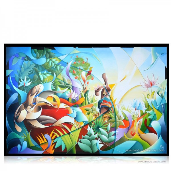 Peinture douanier rousseau jungle tableau moderne color - Tableaux modernes colores ...