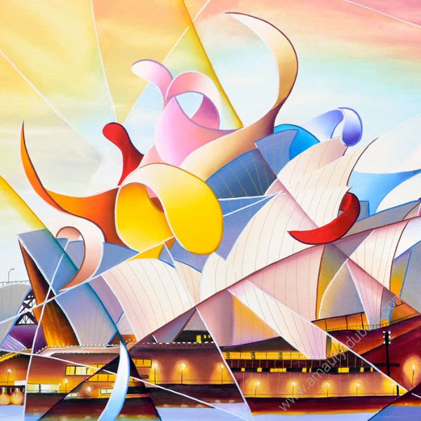 Colorful Painting Sydney's Opera