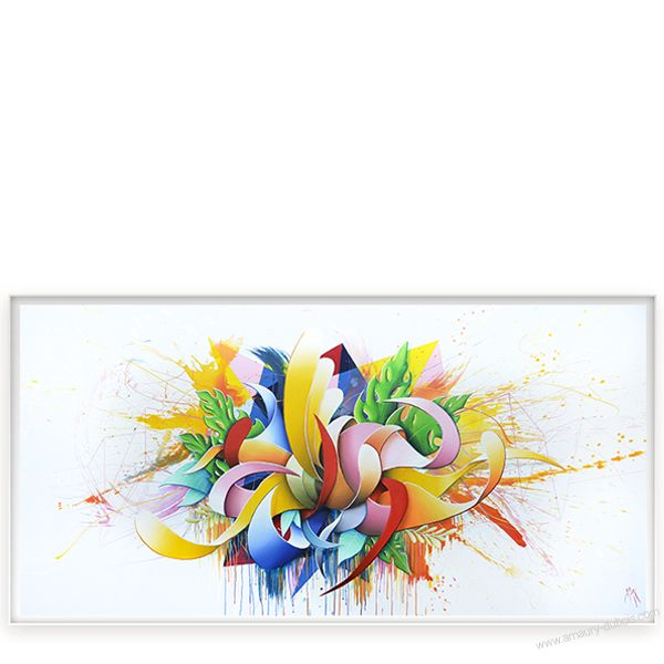 """Painting """"Color Seed""""- Contemporary Dripping"""