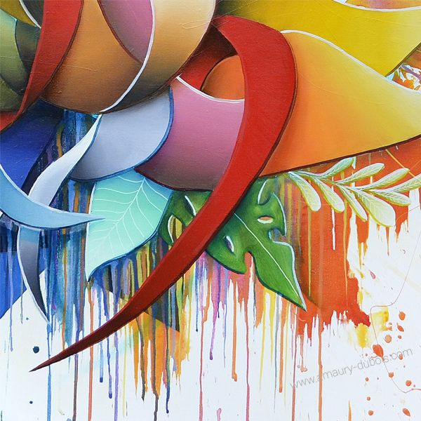 "Painting ""Color Seed""- Contemporary Dripping"