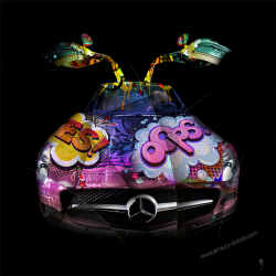 Art photography Pop Art Mercedes SLS