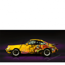Art photography Pop Art Porsche 930