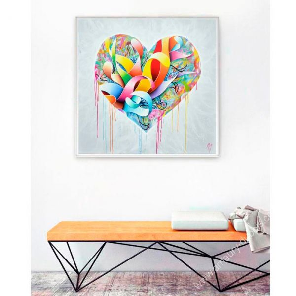 "Colorful Painting ""Heart Shaped Box"""