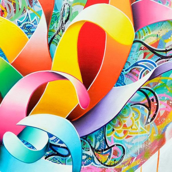 """Colorful Painting """"Heart Shaped Box"""""""