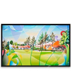 Golf Painting - Royal Golf Club Zoute II