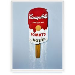 Campbell's Warhol soup Ice cream Painting
