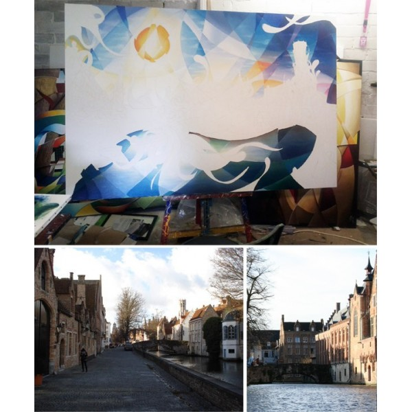Colorful Painting Bruges