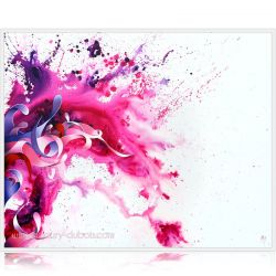 """Lilac wine"" Dripping Painting, abstract oil on canvas painting"