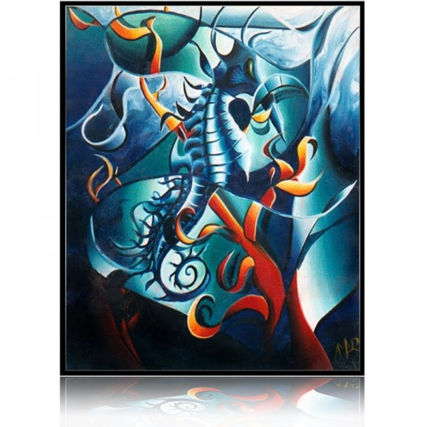 Colorful Painting Sea Horse