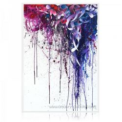 "Painting"" Refuse resist"" dripping, abstract oil on canvas painting"