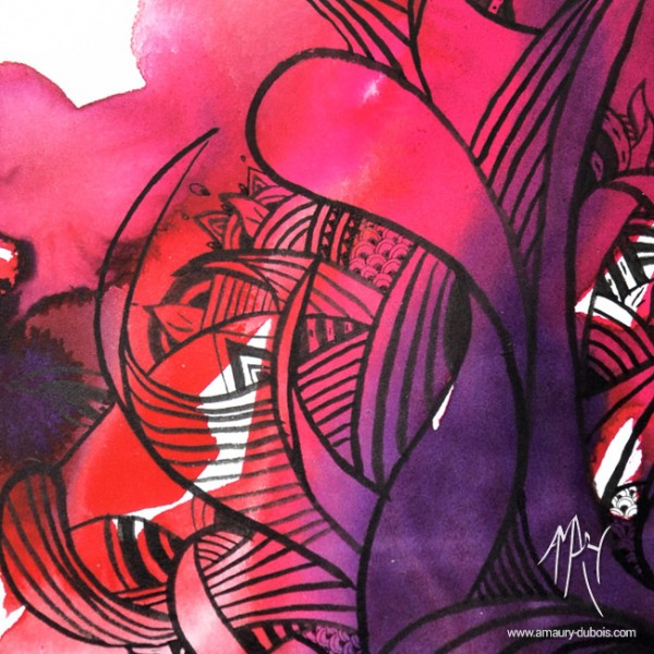 Contemporary Ink on paper - I come from the water 4