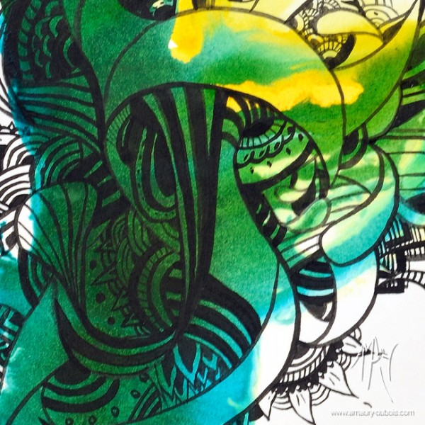 Contemporary Ink on paper - I come from the water 7
