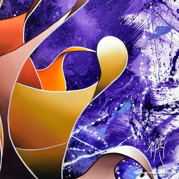 """""""Kiss"""" Dripping Painting, abstract oil on canvas painting"""