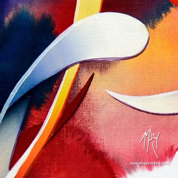 """Love at first sight"" Dripping Painting, abstract oil on canvas painting"