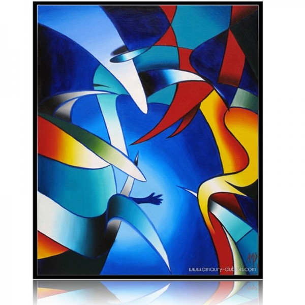 """Abstract Painting """"Viens"""""""