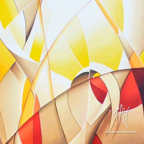 """Abstract Painting """"On fire"""""""