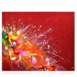 "Red Abstract Painting "" Cherry Red"""