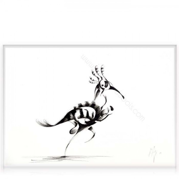 """Charcoal on paper """"Bird"""""""