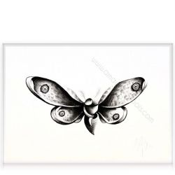 "Charcoal on paper ""Butterfly"""