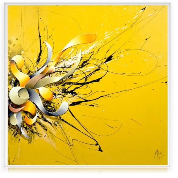 "Yellow Canvas Painting "" Here I Am"""