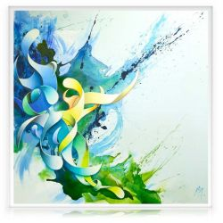 "Green Contemporary Painting "" Life"""