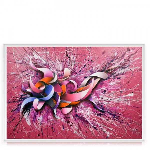 "Peinture Contemporaine Rose ""Pink"""