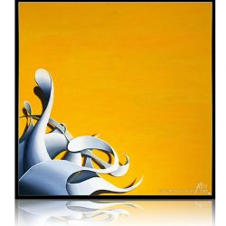 Abstract Painting Yellow sun