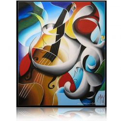 Colorful Painting  Violoncelle
