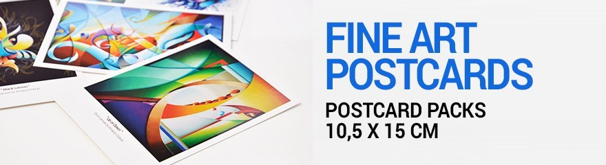 Artistic and colorful Postcards - Artwork Copies