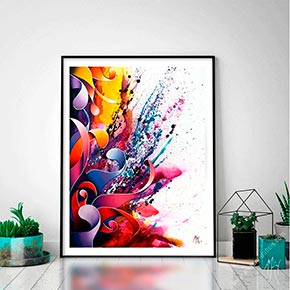 abstract limited edition print