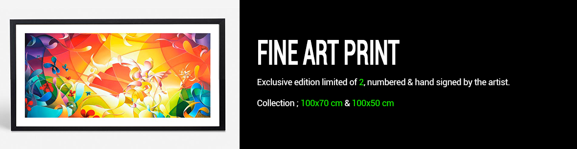Fine art print signed and limited of 2