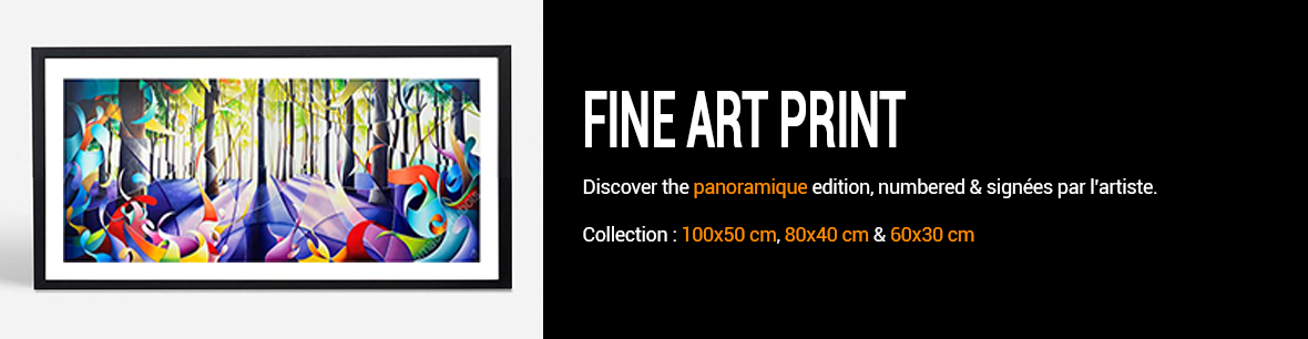 Panoramic Fine art print signed and limited
