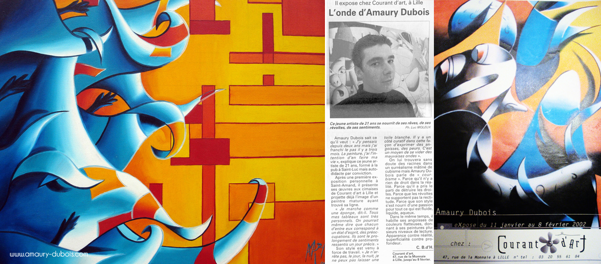 2000 // FRANCE Exhibition artist painter Lille gallery