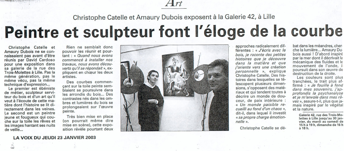 2003 FRANCE // Lille solo exhibition art gallery 42