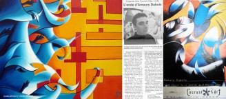 2000 // FRANCE Exhibition artist painter Lille gallery Courant d'art