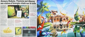 Newspaper article about the french painter Amaury Dubois Lille December 2012