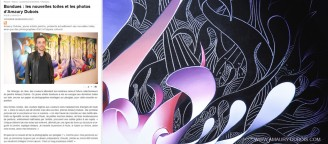Newspaper Article, Bondues new paintings and photos by artist Amaury Dubois