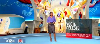 The monumental fresco of the church in France on TV and international press!